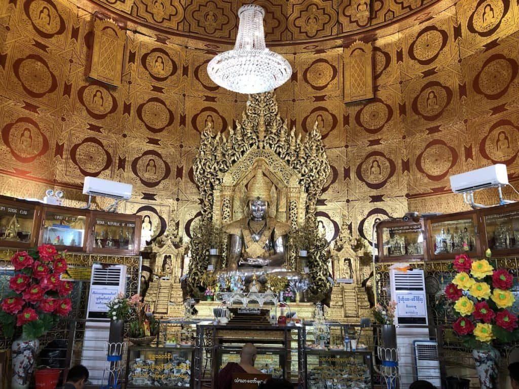 Interior of a pagoda