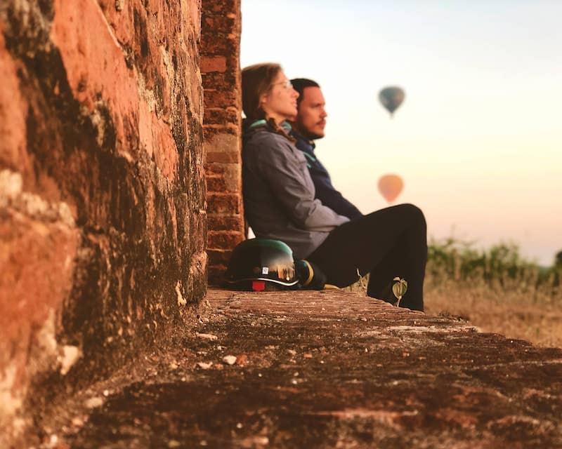 Bagan avec Montgolfière