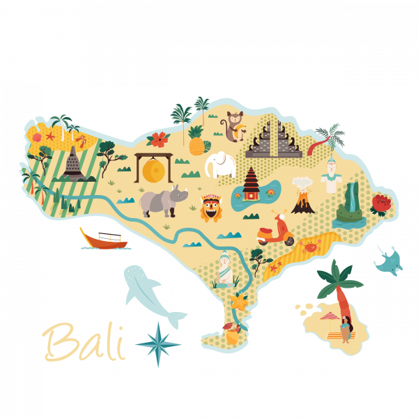 Plan Bali points touristiques