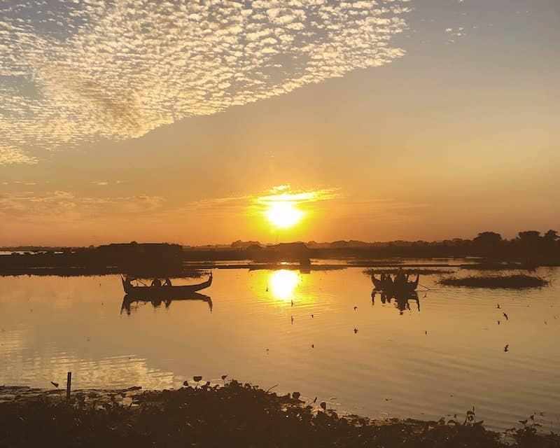 Coucher de soleil au pont d'U Bein
