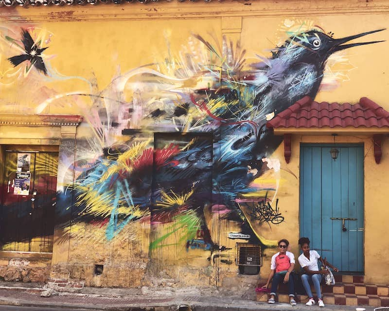 Art de rue à Getsemanie Cartagena