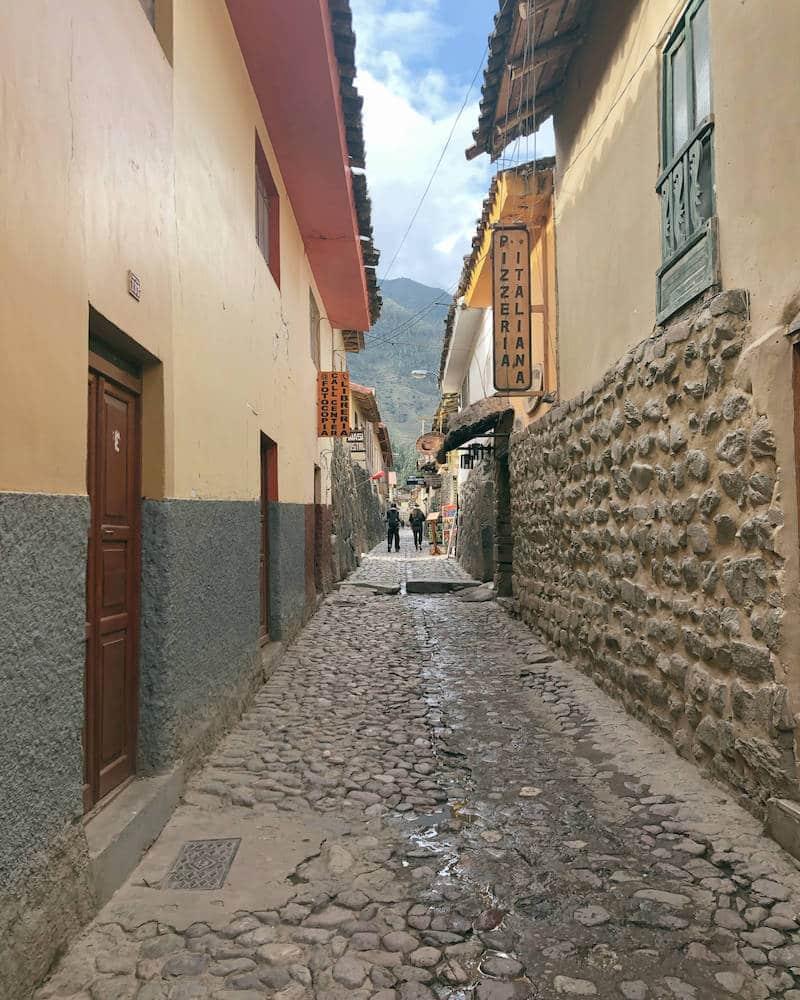 Rue Ollantaytambo au Pérou