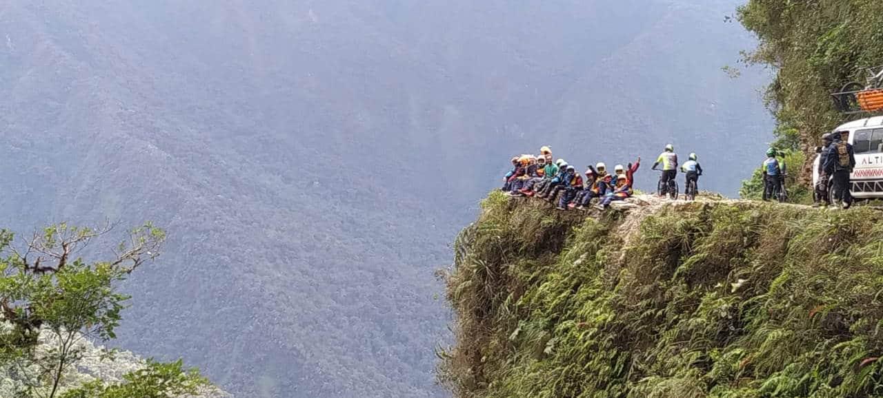 Descente en vtt de la route de la mort en Bolivie
