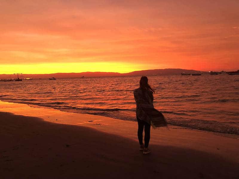 Coucher de soleil à Paracas