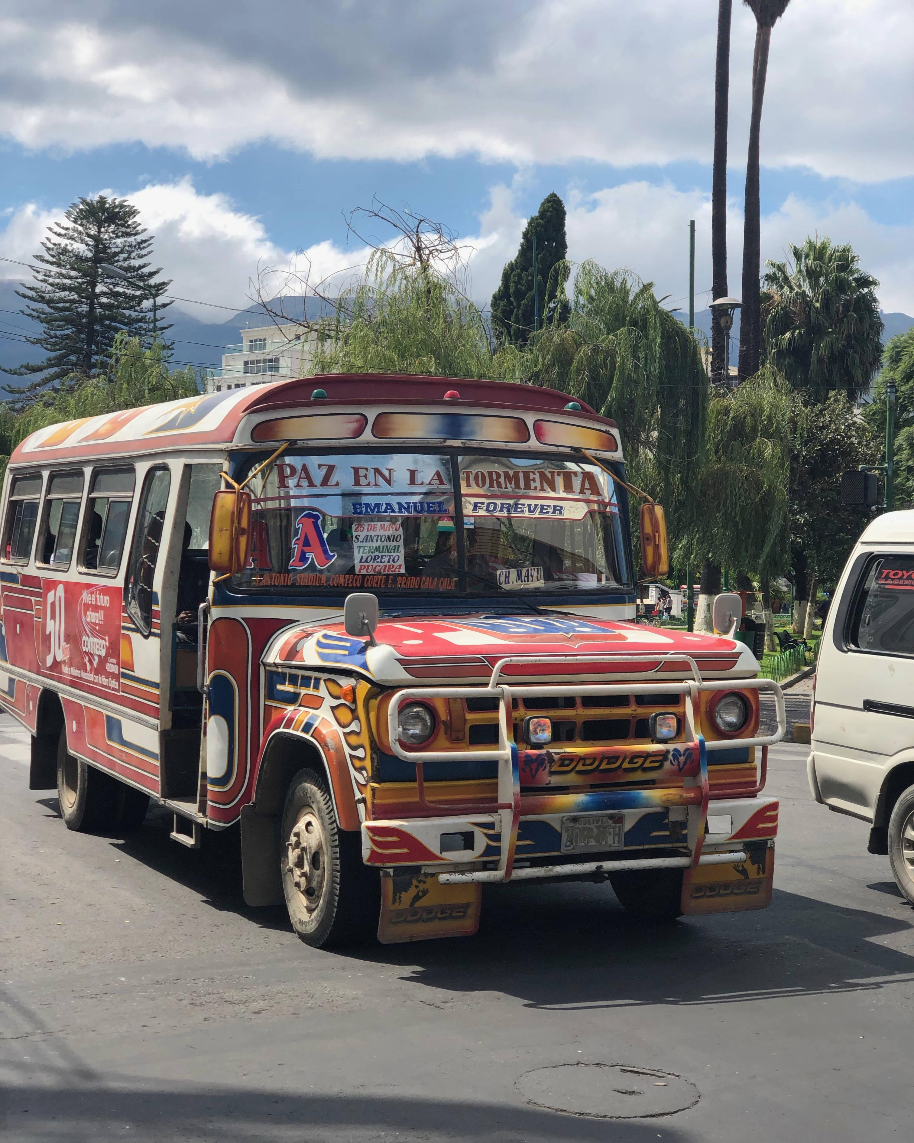 Bus de Cochabamba en Bolivie