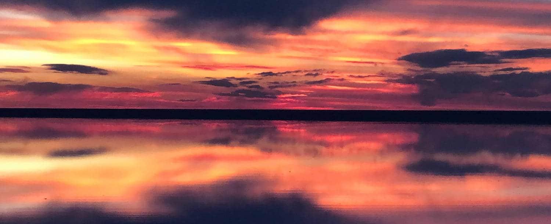 Coucher de soleil Uyuni en Bolivie