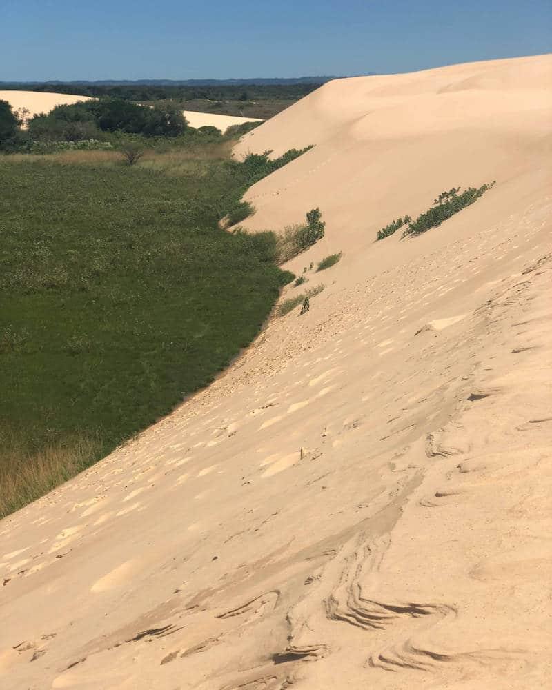 Dunes des sables en Bolivie