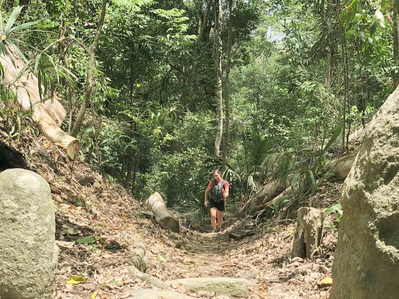 Morgane dans la jungle de tayrona parc