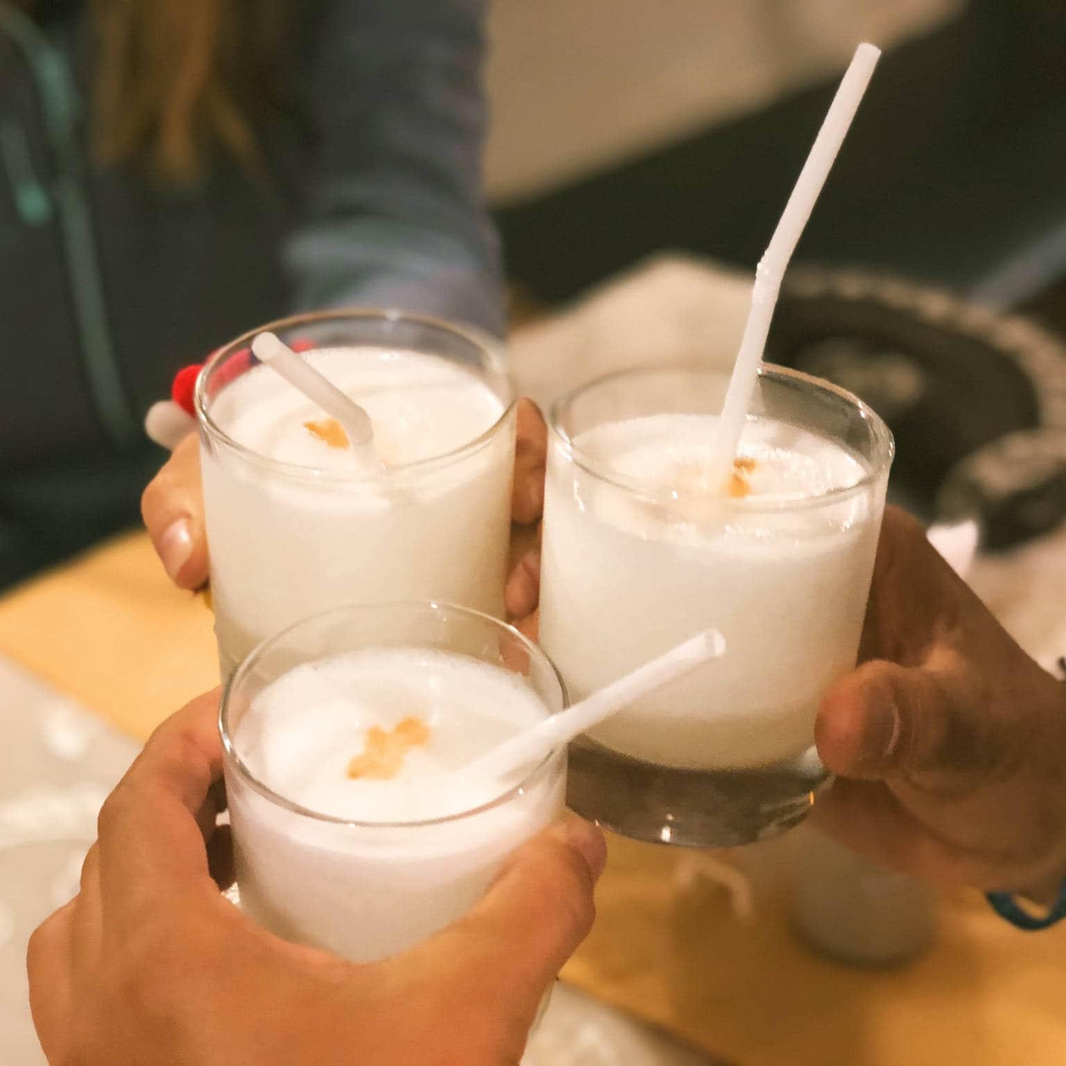 Pisco sour cocktail Perou