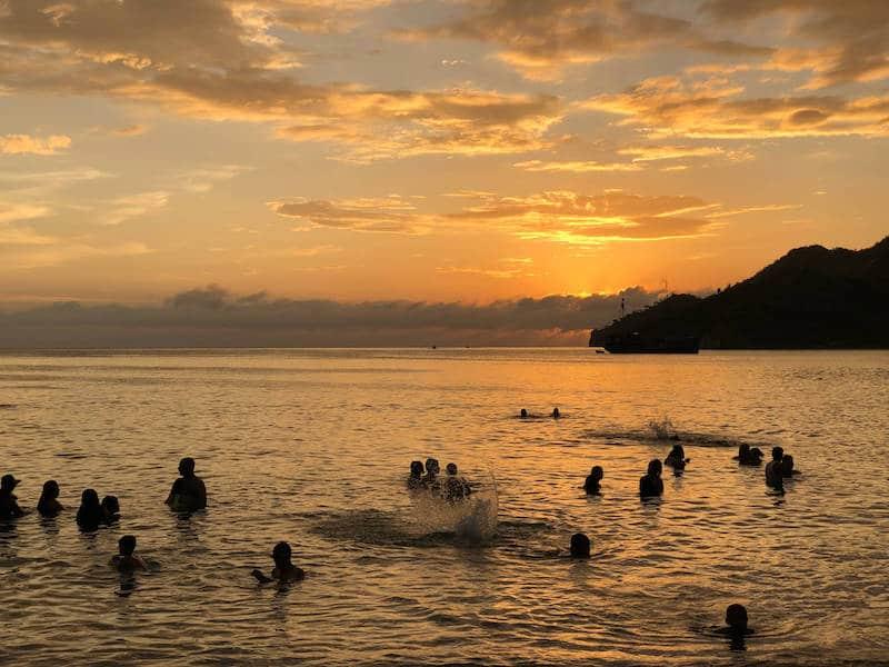 Coucher de soleil à Taganga