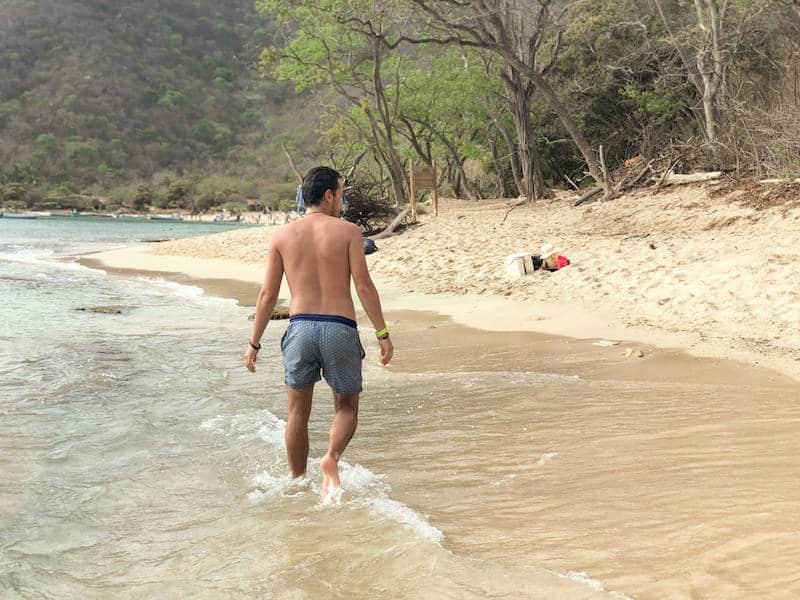 Nico sur la plage de playa cristal