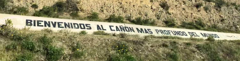 Panneau canyon del Colca