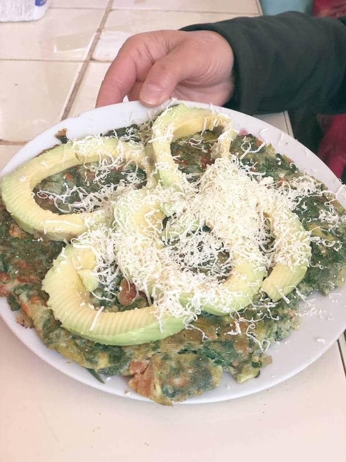 Une tortilla con verduras